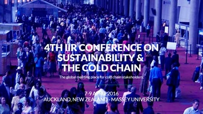 4th IIR Conference on Sustainability and the Cold Chain