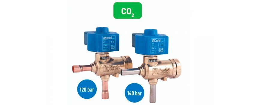 Castel обновляет линейку клапанов CO2 электромагнитными клапанами и предохранительными клапанами